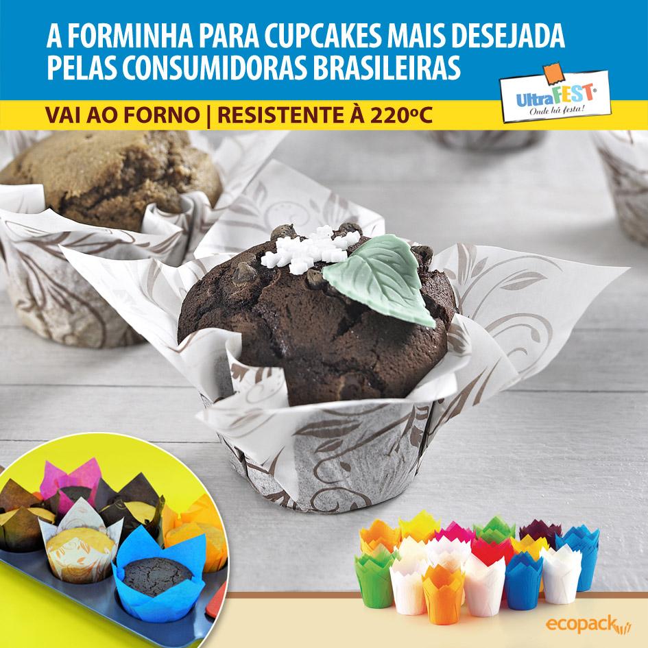 Forminhas Tulipas para Cupcakes